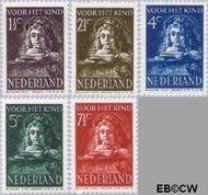 Nederland NL 397#401  1941 Schilderij Rembrandt   cent  Gestempeld