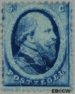 Nederland NL 4  1864 Koning Willem III- 2e emissie 5 cent  Gestempeld