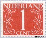 Nederland NL 460  1946 Cijfer type 'van Krimpen' 1 cent  Gestempeld