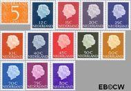 Nederland NL 465b#634b  1967 Koningin Juliana- Type 'En Profile'  cent  Gestempeld