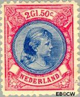 Nederland NL 47  1893 Koningin Wilhelmina- 'Hangend haar' 250 cent  Gestempeld