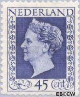 Nederland NL 487  1947 Koningin Wilhelmina- Type 'Hartz' 45 cent  Gestempeld
