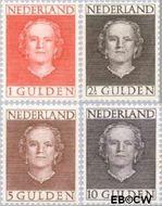 Nederland NL 534#537  1949 Koningin Juliana- Type 'En Face'  cent  Gestempeld