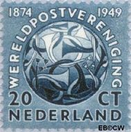 Nederland NL 543  1949 U.P.U. 20 cent  Postfris