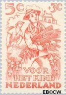 Nederland NL 545  1949 Jaargetijden 5+3 cent  Gestempeld