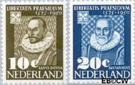 Nederland NL 561#562  1950 Leidse Universiteit   cent  Gestempeld