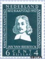 Nederland NL 579  1952 Riebeeck-monument 6+4 cent  Gestempeld