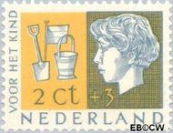 Nederland NL 612  1953 Kinderhoofden 2+3 cent  Gestempeld