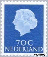 Nederland NL 632b  1971 Koningin Juliana- Type 'En Profile' 70 cent  Postfris