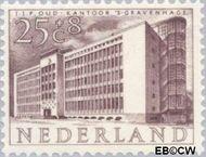 Nederland NL 659  1955 Gebouwen 25+8 cent  Postfris