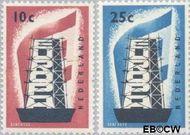 Nederland NL 681#682  1956 Europa in de stijgers  cent  Postfris