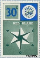 Nederland NL 701  1957 Windroos 30 cent  Gestempeld