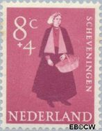 Nederland NL 709  1958 Klederdrachten 8+4 cent  Gestempeld