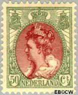 Nederland NL 74  1899 Koningin Wilhelmina- 'Bontkraag' 50 cent  Gestempeld