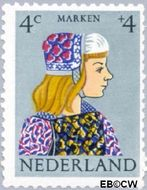 Nederland NL 747  1960 Klederdrachten 4+4 cent  Gestempeld
