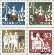 Nederland NL 807#810  1963 Onafhankelijkheid   cent  Gestempeld