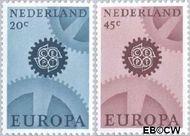 Nederland NL 882#883  1967 C.E.P.T.- Radarwerk  cent  Gestempeld