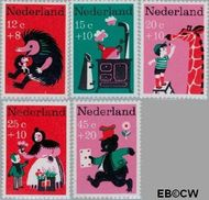 Nederland NL 894#898  1967 Kinderversjes  cent  Postfris