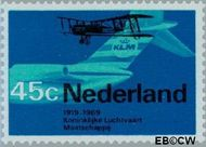 Nederland NL 911  1968 Luchtvaart 45 cent  Postfris