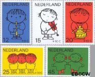 Nederland NL 932#936  1969 Kind en muziek  cent  Postfris