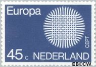 Nederland NL 972  1970 C.E.P.T.- Zon 45 cent  Gestempeld