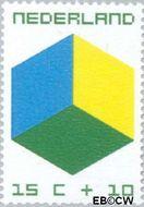 Nederland NL 979  1970 Kubus 15+10 cent  Gestempeld