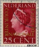 Nederland NL D24  1947 Cour Internationale de Justice 25 cent  Gestempeld