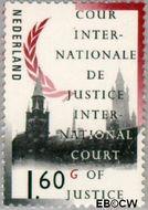 Nederland NL D56  1989 Cour Internationale de Justice 160 cent  Gestempeld