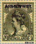 Nederland NL D7  1913 Armenwet 10 cent  Gestempeld