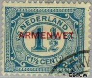 Nederland NL D8  1913 Armenwet 1½ cent  Gestempeld