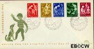 Nederland NL E54  1962 Kinderactiviteiten   cent  FDC zonder adres