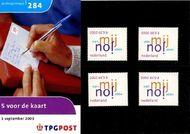 Nederland NL M284  2003 5 voor de kaart  cent  Postfris