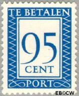 Nederland NL P104  1947 Portzegel 95 cent  Gestempeld