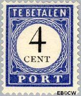Nederland NL P18  1909 Portzegel 4 cent  Gestempeld