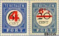 Nederland NL P29#P30  1906 Portzegel  cent  Gestempeld