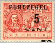 Nederland NL P35  1907 Portzegel 5 op 2½ cent  Gestempeld