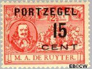 Nederland NL P40  1907 Portzegel 15 op 2½ cent  Gestempeld