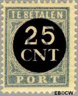 Nederland NL P63  1923 Portzegel 25 op 1½ cent  Gestempeld