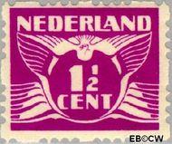 Nederland NL R35  1928 Type 'Lebeau' 1½ cent  Gestempeld