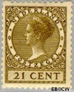 Nederland NL R68  1930 Type 'Veth' 21 cent  Gestempeld