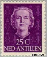 Nederlandse Antillen NA 226  1950 Type 'En Face' 25 cent  Gestempeld