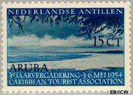 Nederlandse Antillen NA 246  1954 Vergadering Tourist Association 15 cent  Gestempeld