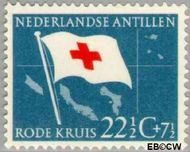 Nederlandse Antillen NA 296  1958 Rode Kruis en Ned. Antillen  22½+7½ cent  Gestempeld