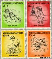 Nederlandse Antillen NA 318#321  1961 Kinderen  cent  Gestempeld