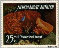 Nederlandse Antillen NA 367  1965 Zeeleven 25 cent  Gestempeld