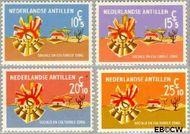Nederlandse Antillen NA 396#399  1968 Sociale zorg 20+10 cent  Gestempeld