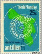 Nederlandse Antillen NA 407  1969 Wereldomroep 25 cent  Gestempeld