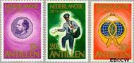 Nederlandse Antillen NA 472#474  1973 Postzegeljubileum  cent  Gestempeld