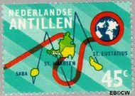 Nederlandse Antillen NA 477  1973 Nieuwe telefoonkabel 45 cent  Gestempeld