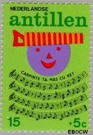 Nederlandse Antillen NA 497  1974 Kinderliedjes 15+5 cent  Gestempeld
